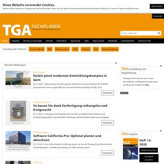 Das Magazin für die Technische Gebäudeausrüstung - TGA Fachplaner