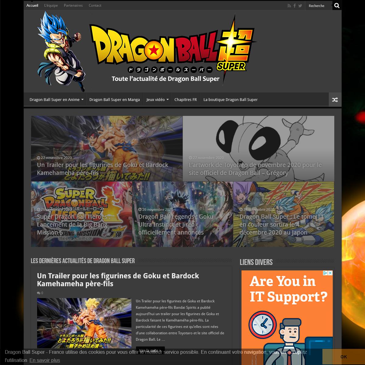 L`actualité de Dragon Ball Super - Dragon Ball Super - France