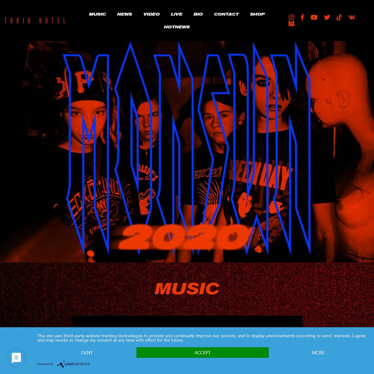 Tokio Hotel - Monsoon 2020