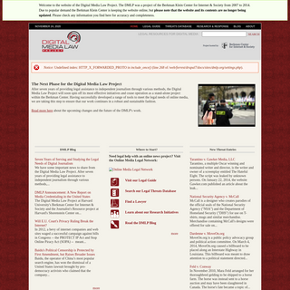 Home - Digital Media Law Project