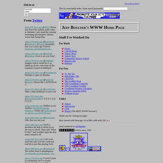 Jeff Boulter`s WWW Home Page