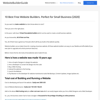 10 Best Free Website Builders. Perfect for Small Business (2020)