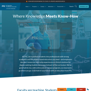Pittsburgh Technical College - More Than 30 Programs of Study