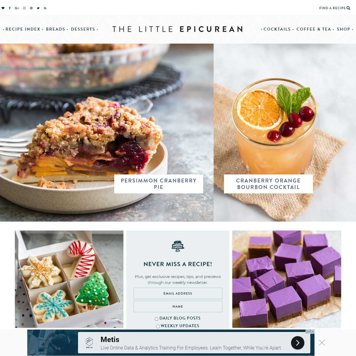 The Little Epicurean - Baking, Dessert, and Cocktail Recipe Blog