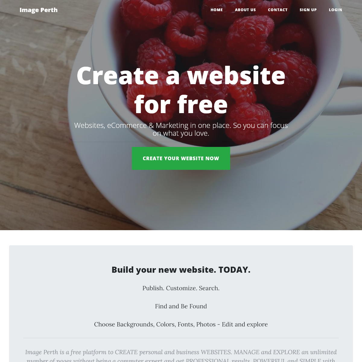 Create a website for free - Image Perth