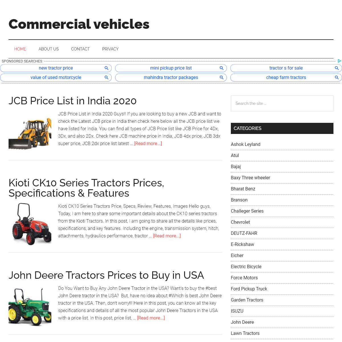 All Commercial Vehicles Information And Price