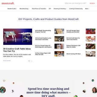 DIY Projects, Crafts and Product Guides from Mostcraft