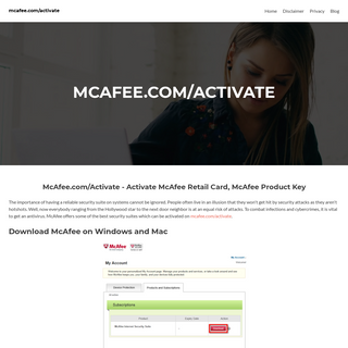 Mcafee.com-activate - Mcafee Activate - www.mcafee.com-activate