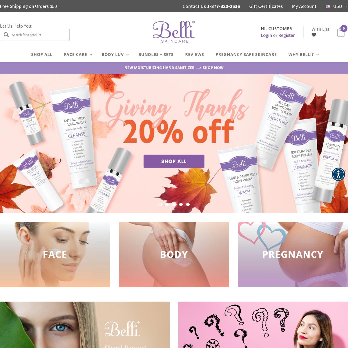 Belli Pregnancy Safe Cruelty Free Skin care - Belli Skincare