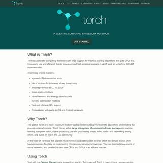 Torch - Scientific computing for LuaJIT.