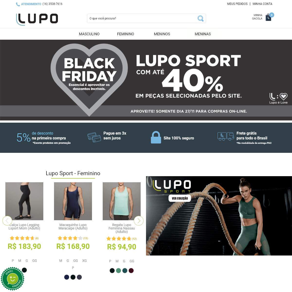 Lupo Oficial - Loja Online - Roupas Esportivas, Moda Íntima Feminina e Masculina