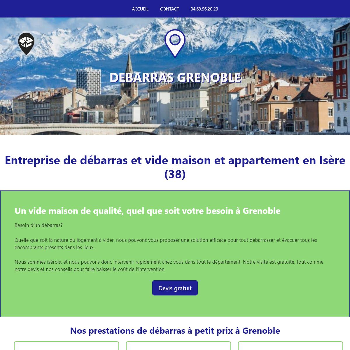 Débarras et vide maison à Grenoble en Isère - Devis gratuit, petits prix
