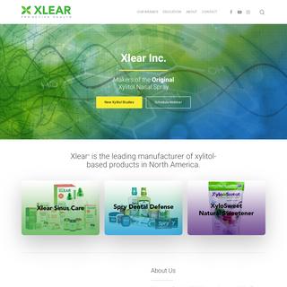 Xlear, Inc Home - Sinus Care, Dental Defense, & Natural Sweeteners - Xlear - Sinus Care, Dental Defense, & Natural Sweeteners