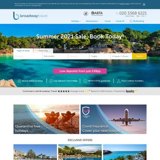Broadway Travel - Best Low Cost Holiday Deals & Breaks 2020-2021