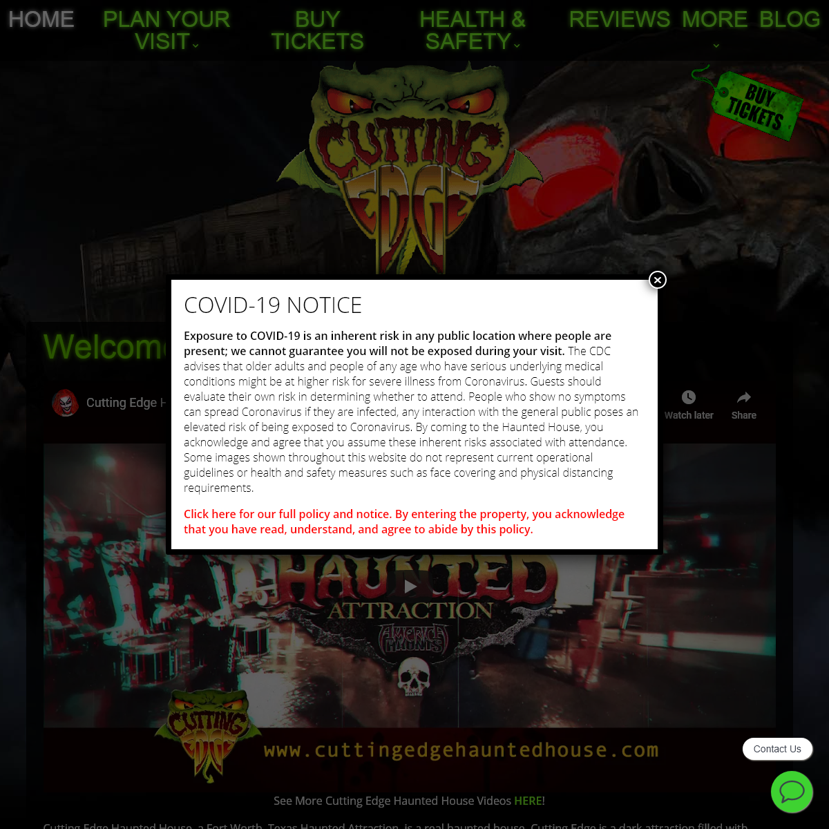 Welcome to Cutting Edge Haunted House - Cutting Edge Haunted House