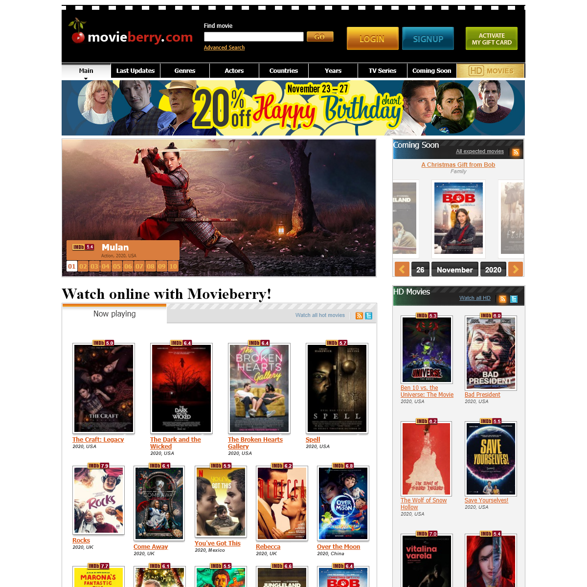 Watch online, download and stream the best movies on Movieberry.com