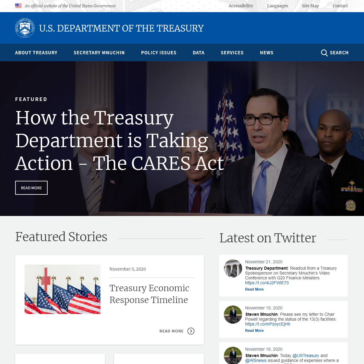 Front page - U.S. Department of the Treasury