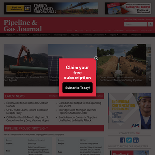 My Home - Pipeline & Gas Journal