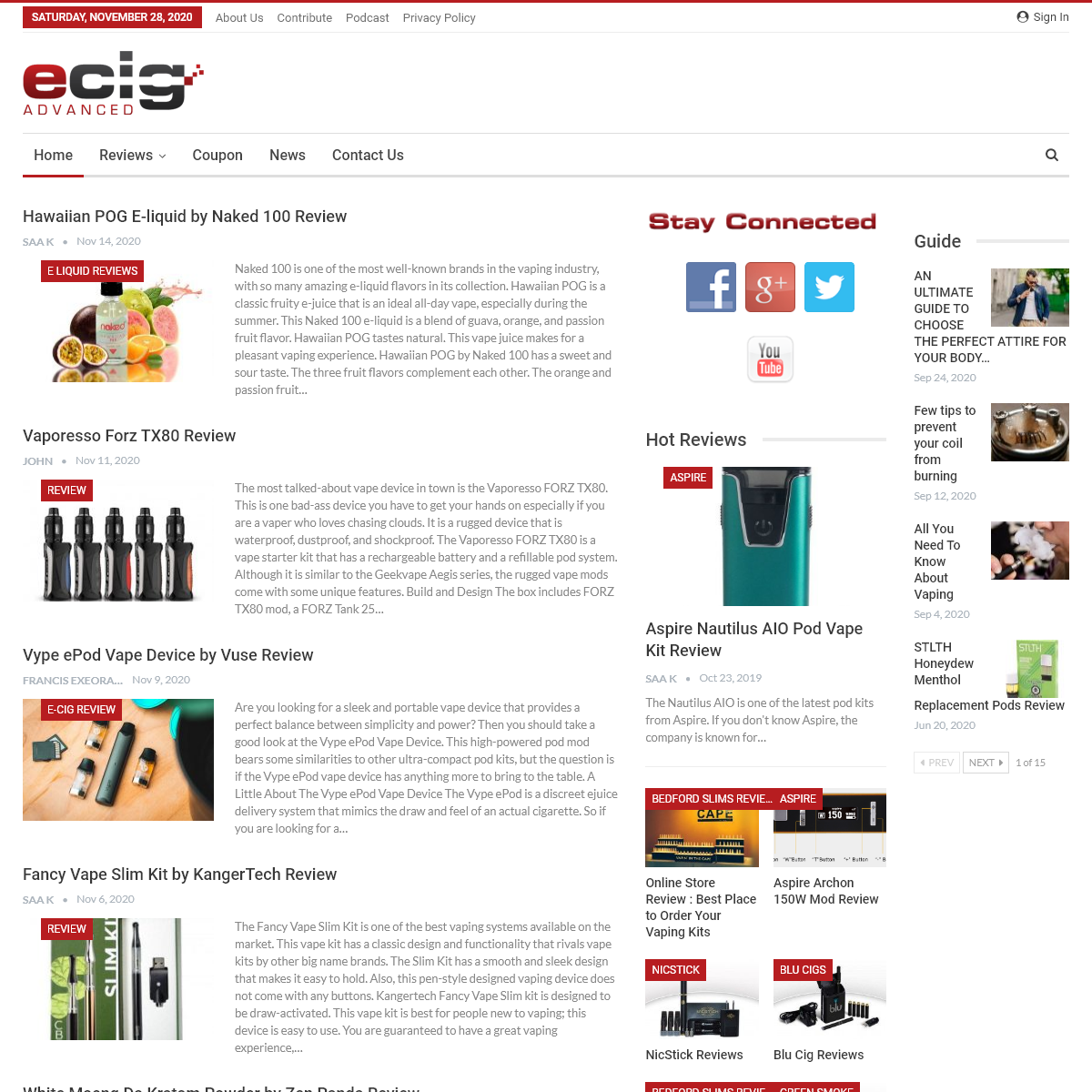 Electronic Cigarette and E-Liquid Reviews, Forums, and News - Ecig Advanced -