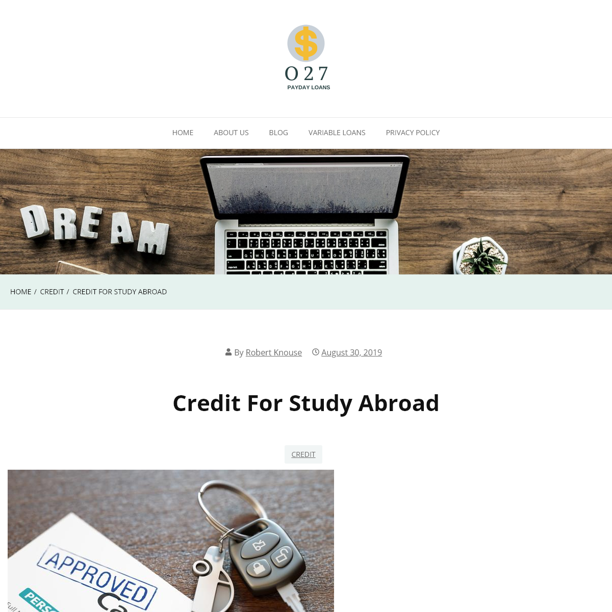 Credit for study abroad