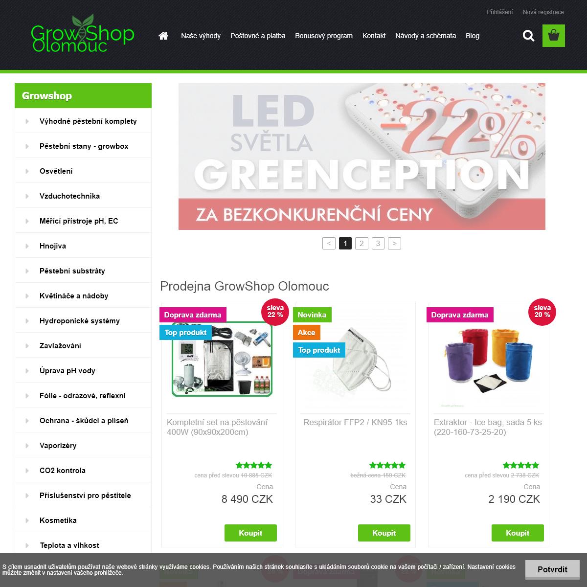 GrowShop Olomouc - Akce a slevy až 33-