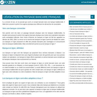 Accueil - RXzen Banque
