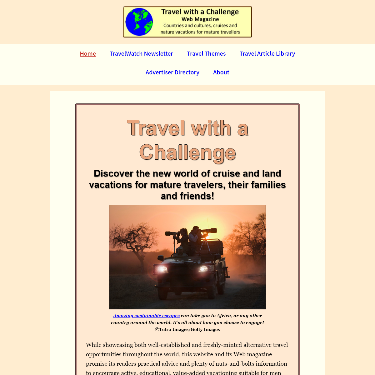 Home - Travel with a Challenge
