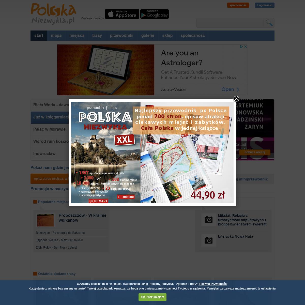 Polska niezwykła - Ciekawe miejsca, atrakcje turystyczne, zabytki. Przewodnik turystyczny po Polsce. Miniprzewodniki do pobrani