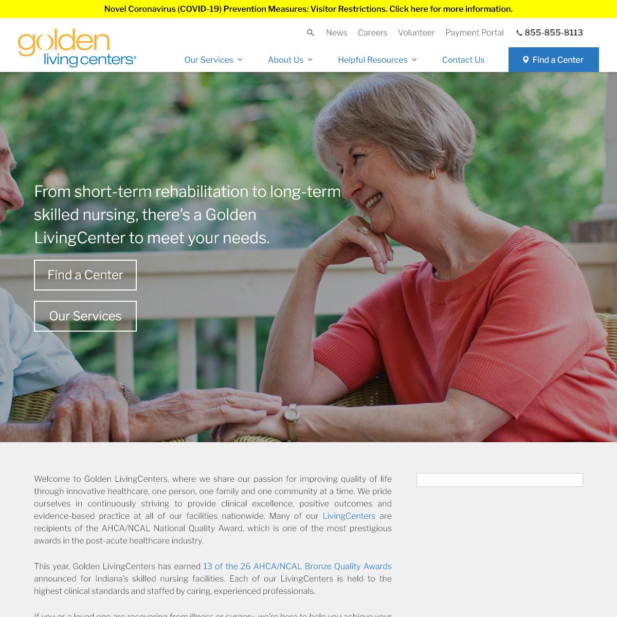 Golden LivingCenters - Enhancing Lives Through Innovative Healthcare