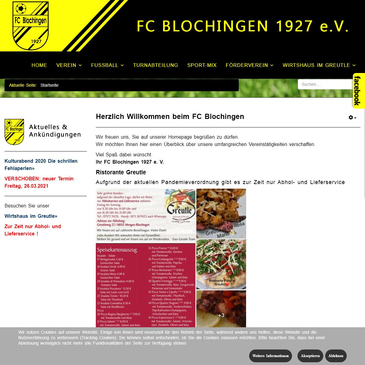 A complete backup of fcblochingen.de