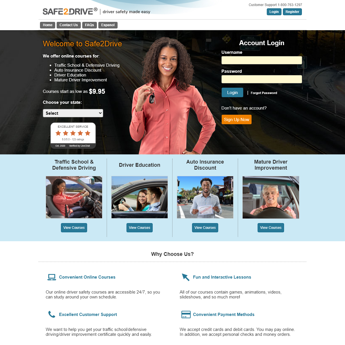 Online Defensive Driving, Traffic School, Driver Education, and Insurance Discount Courses - Safe2Drive