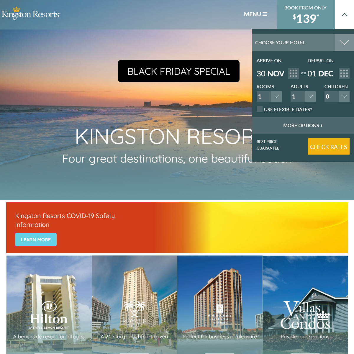 Kingston Resorts in Myrtle Beach - Two Great Resorts, One Unforgettable Location