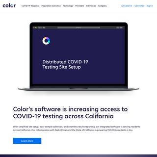 Color- Population Genomics & COVID-19 Testing