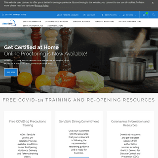ServSafe® - Food Handler, Manager and Responsible Alcohol Training - Home