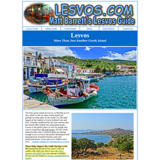 Lesvos- More Than Just Another Greek Island