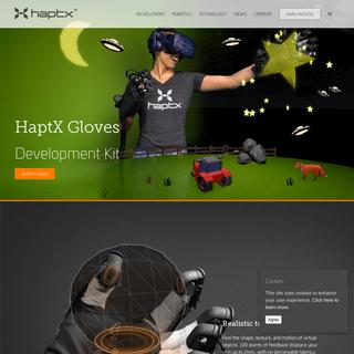 HaptX - Haptic gloves for VR training, simulation, and design