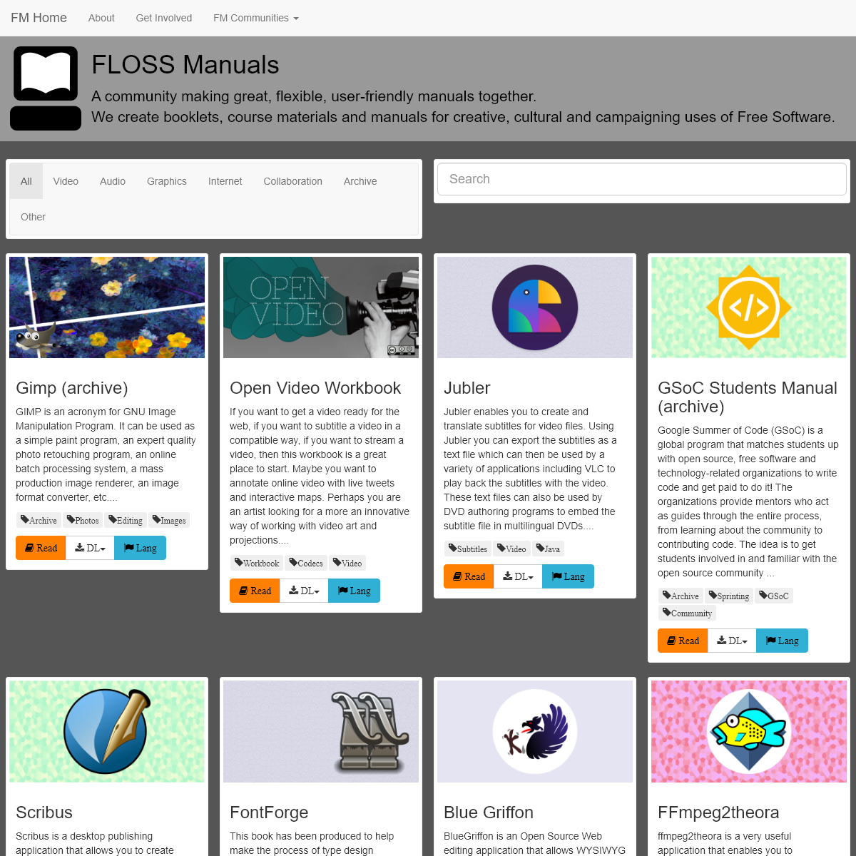 Floss Manuals - Free Manuals for Free Software
