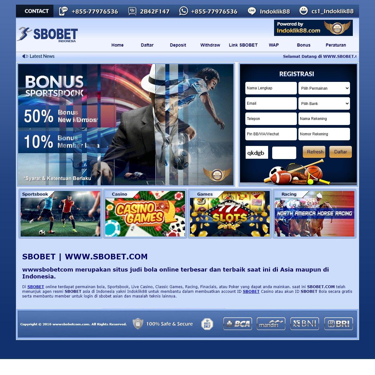 SBOBET - wwwsbobetcom - www.sbobet.com