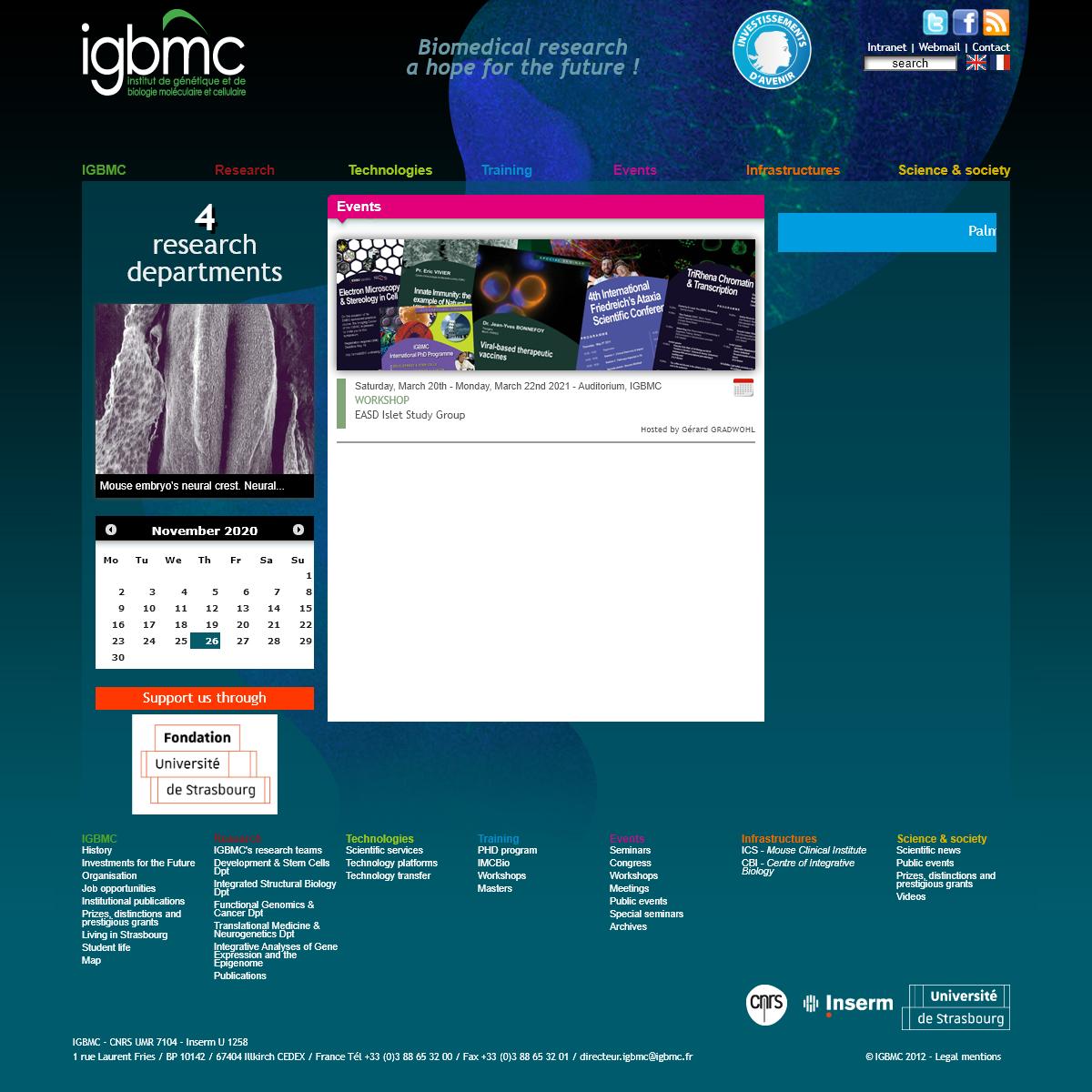 IGBMC - Home