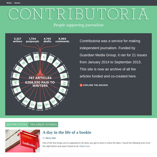 Contributoria - people supporting journalism