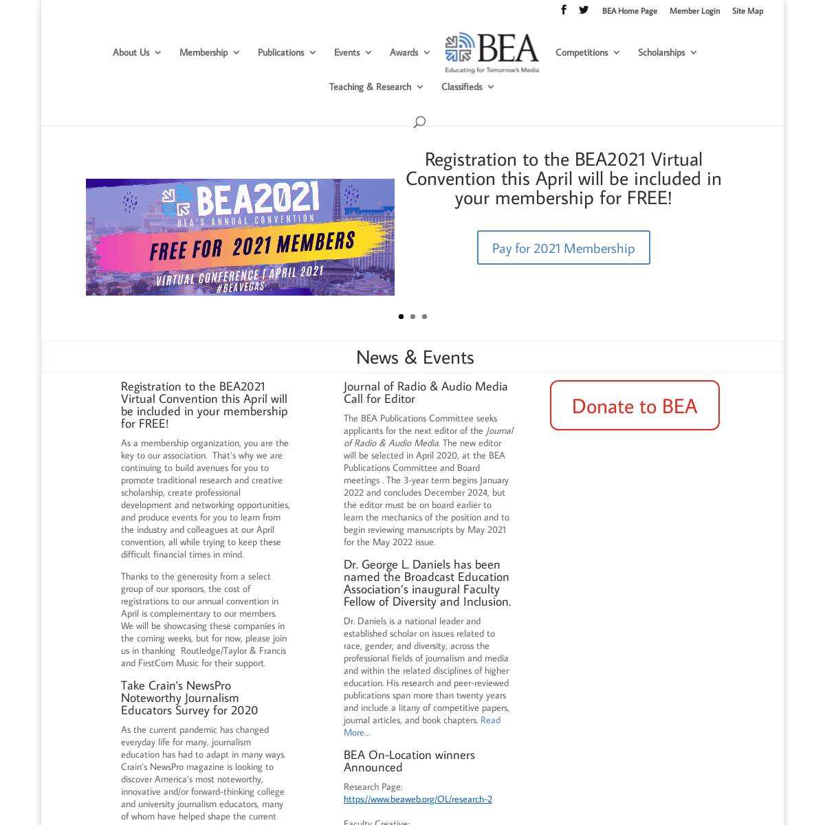 BEA - The Broadcast Education Association - The Association of Media Educators