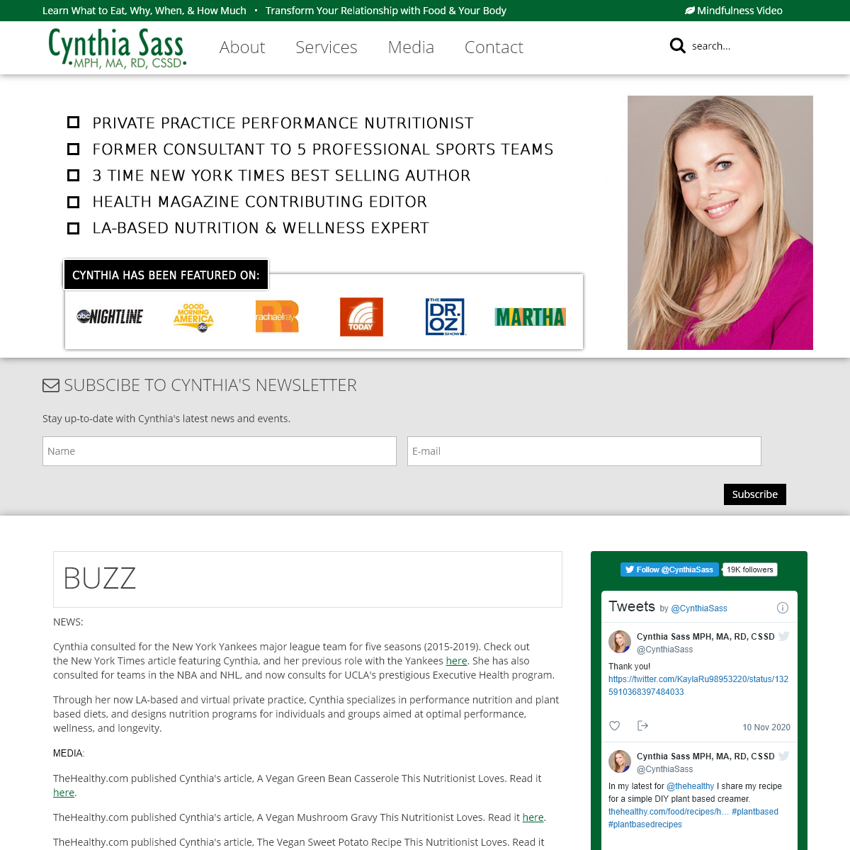 Home - Cynthia Sass - Nutritionist and Author