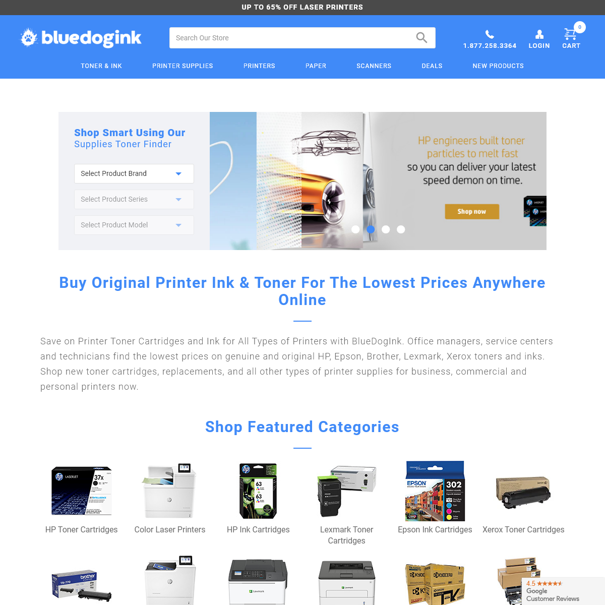 Original Printer Ink and Toner Cartridges - BlueDogInk.com