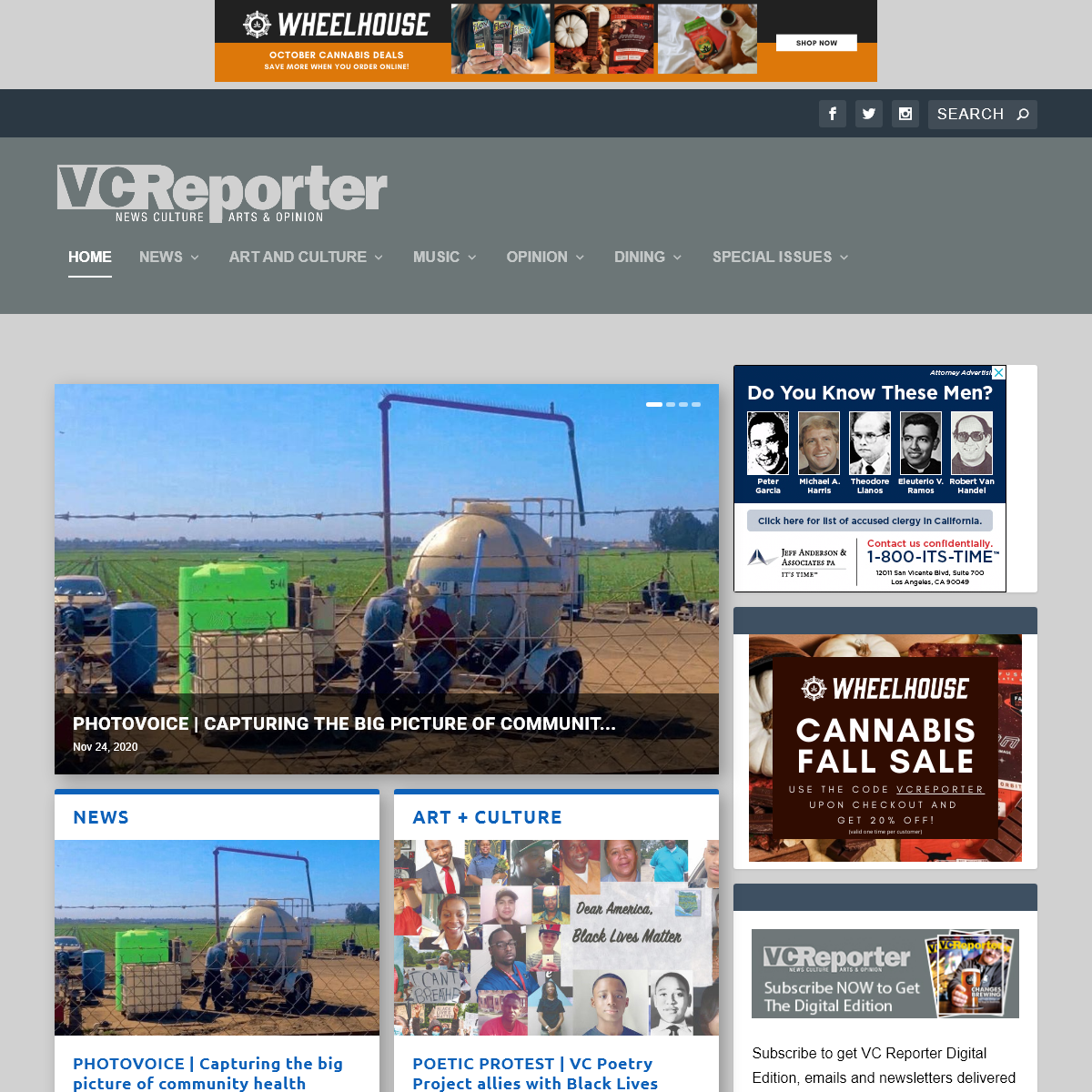 VC Reporter - Times Media Group - News, Culture, Arts and Opinion
