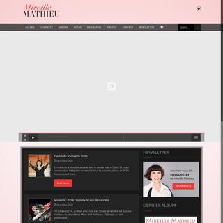 Mireille Mathieu – Official website