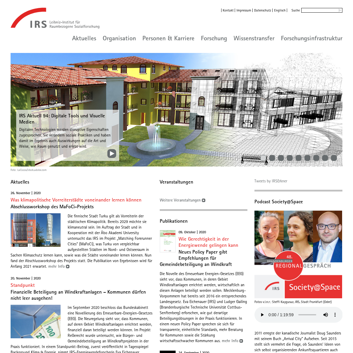 Startseite - Leibniz-Institut für Raumbezogene Sozialforschung