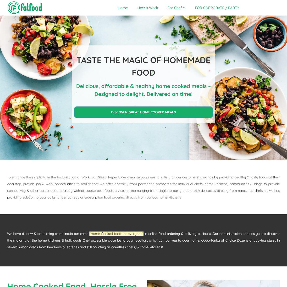 Fatfood network Pvt Ltd – Home made food order and delivery app
