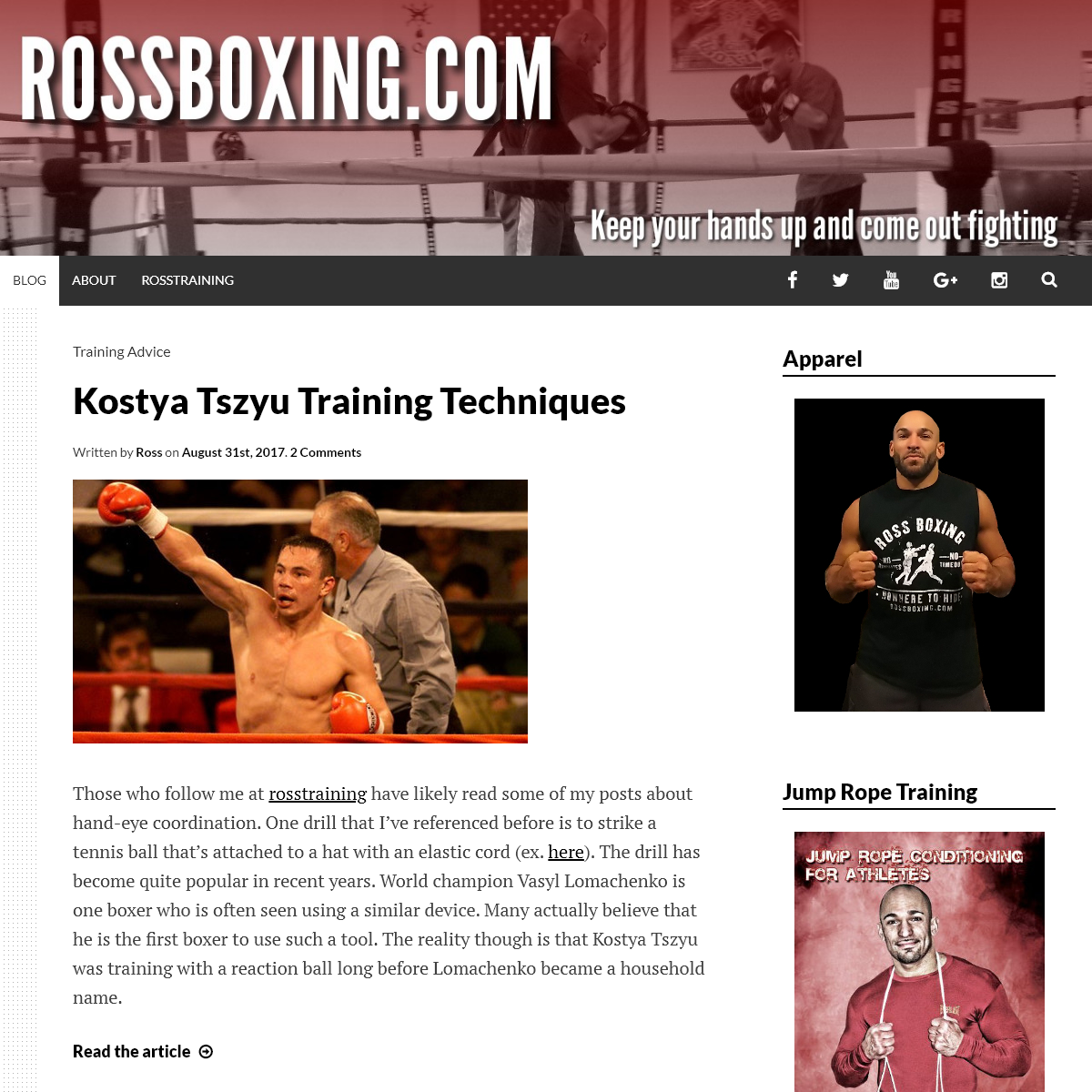 RossBoxing.com - Your Source For Boxing Training