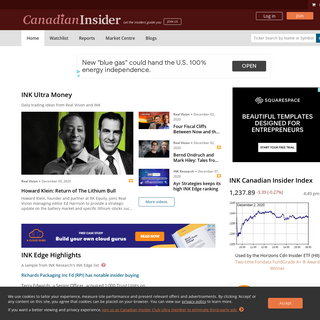 Canadian Insider - Insider Filings, News and Alerts on the Canadian Stock Market