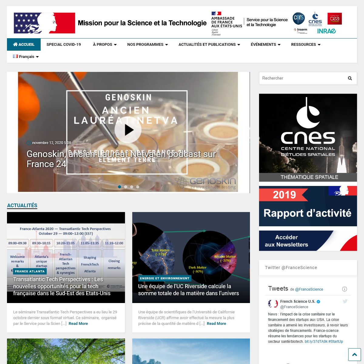 France-Science – Office for Science & Technology of the Embassy of France in the United States